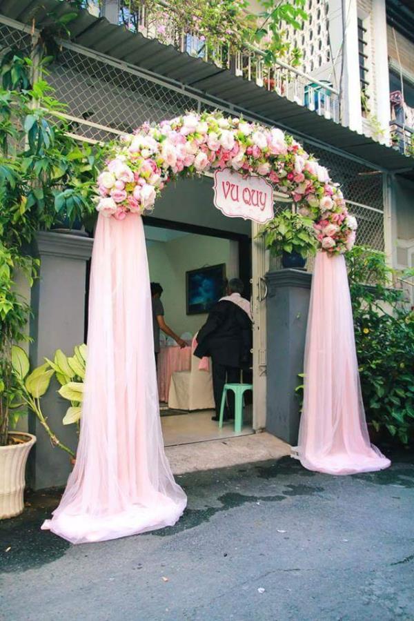 Chọn cổng hoa cưới phù hợp với phong thuỷ
